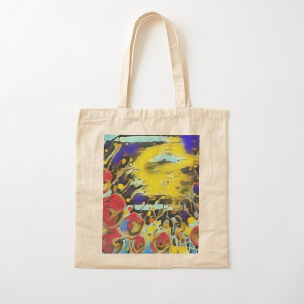 Poppy Garden 19 designed & created by (c) Janet Watson Art   Cotton Tote Bag