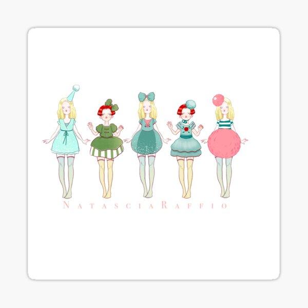 Girls on parade  Sticker