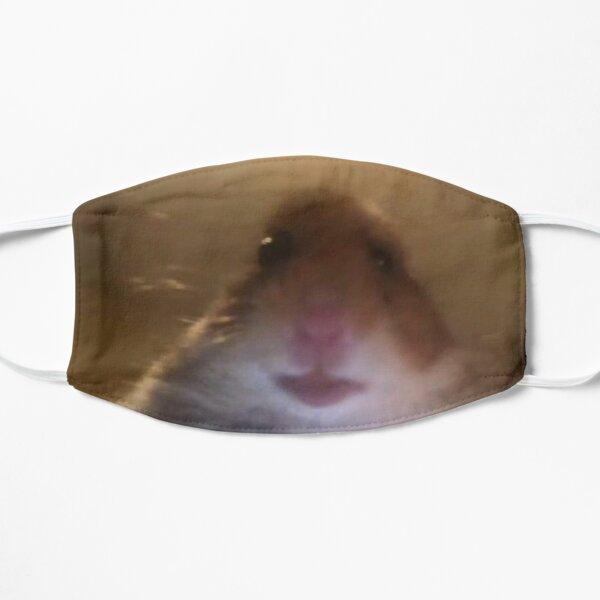 facetime hamster meme Flat Mask