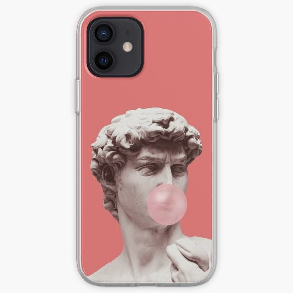 Estatua griega chicle Funda blanda para iPhone