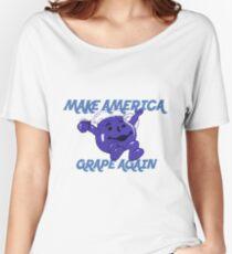Camiseta ancha para mujer Make America Grape Again