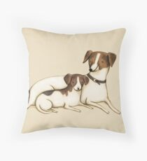 Jack Russels Throw Pillow
