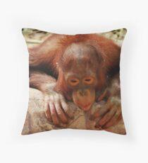 Orangatan Throw Pillow