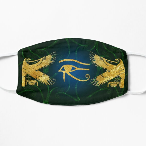 Eye of Horus Protected by Golden Falcons  Flat Mask
