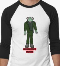 Frankenstein's Hamster Men's Baseball ¾ T-Shirt
