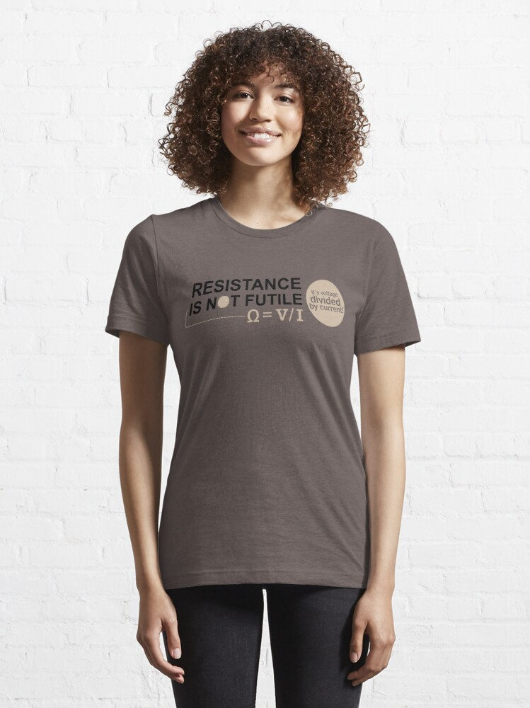 Alternate view of Resistance Is Not Futile Essential T-Shirt