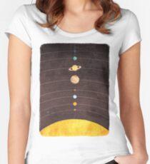 Camiseta entallada de cuello ancho Sistema solar