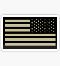 AMERICAN ARMY, Soldier, American Military, Arm Flag, US Military, IR, Infrared, USA, Flag, Reverse side flag, on BLACK Sticker