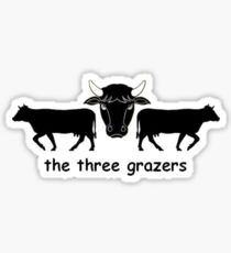 The Three Grazers Sticker