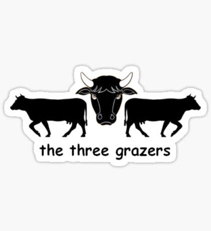 The Three Grazers Sticker