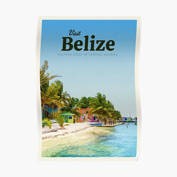 Visit Belize Poster