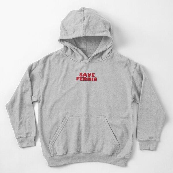 SAVE FERRIS DESIGN, 80s Movie Style Logo, Original Kids Pullover Hoodie