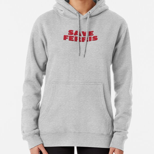 SAVE FERRIS DESIGN, 80s Movie Style Logo, Original Pullover Hoodie