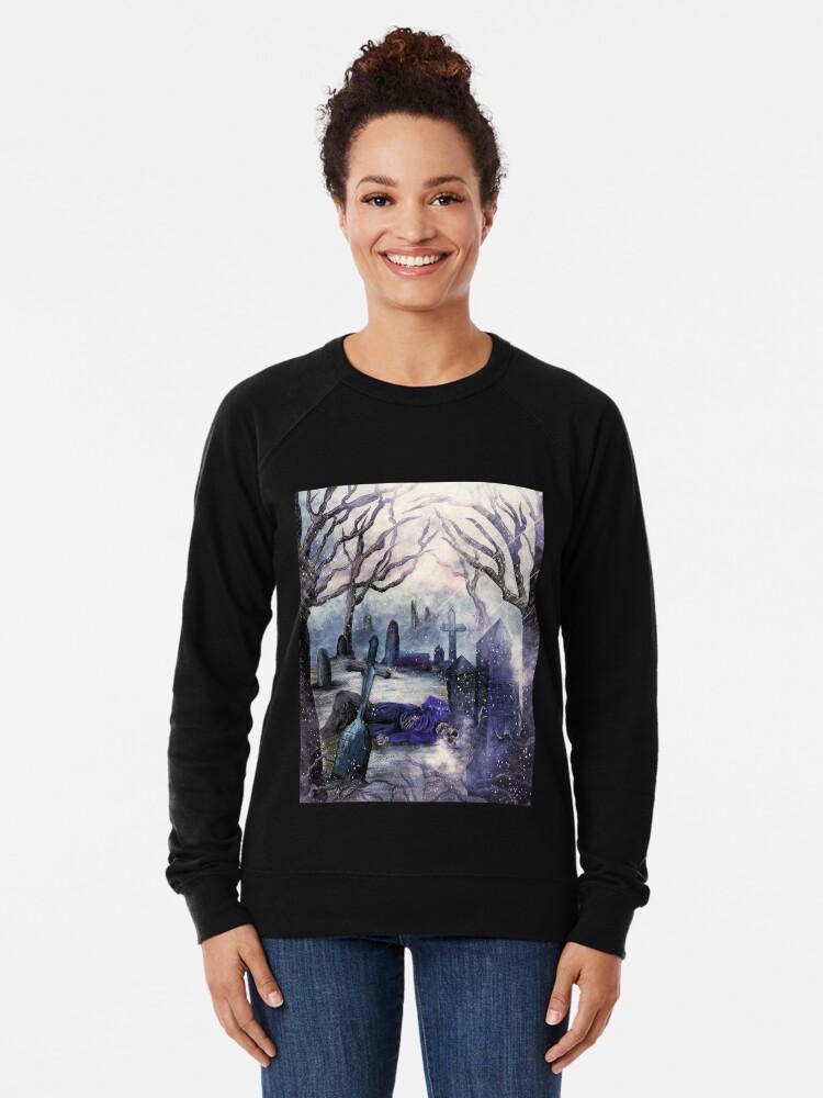 Alternate view of crooked soul. Lightweight Sweatshirt