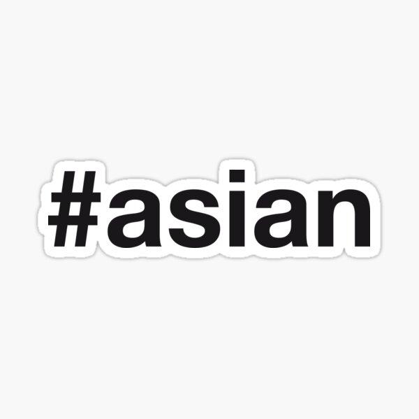 ASIAN Hashtag Sticker