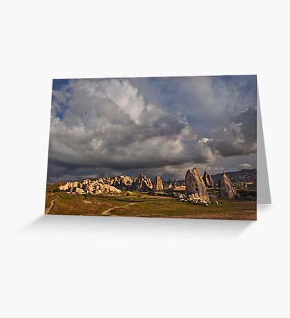 Tufa Houses at Sunset Greeting Card