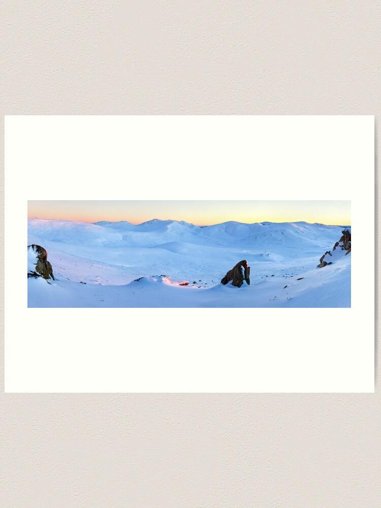 Alternate view of Kosciuszko Main Range, New South Wales, Australia Art Print