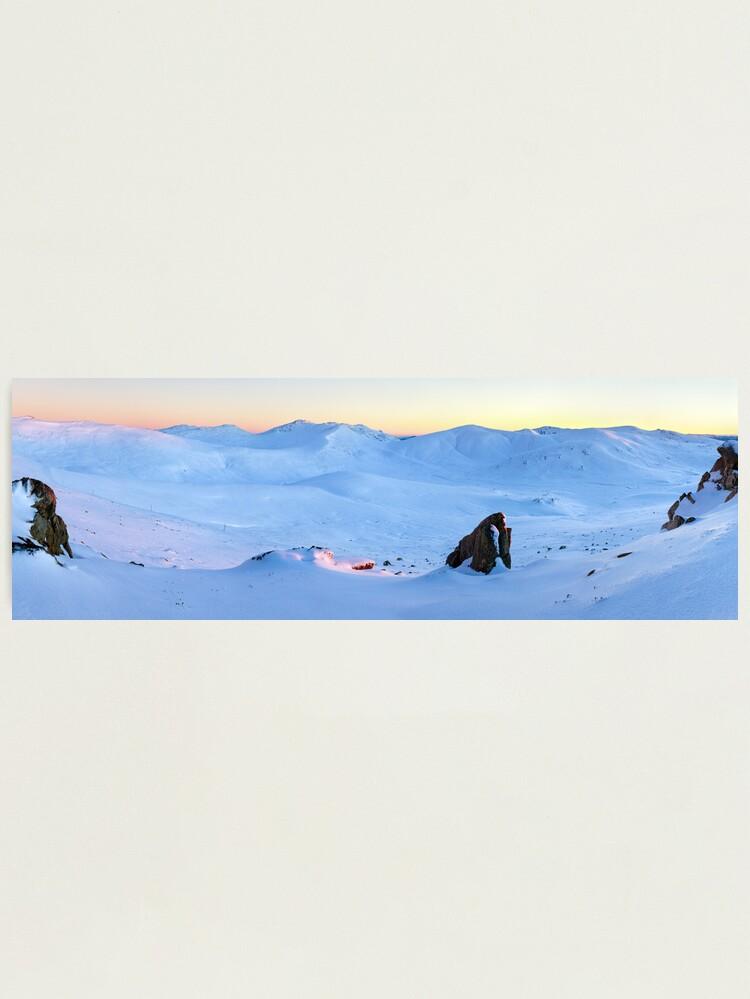 Alternate view of Kosciuszko Main Range, New South Wales, Australia Photographic Print