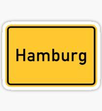 Hamburg, Germany Road Sign Sticker