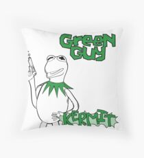 Green Guy Throw Pillow