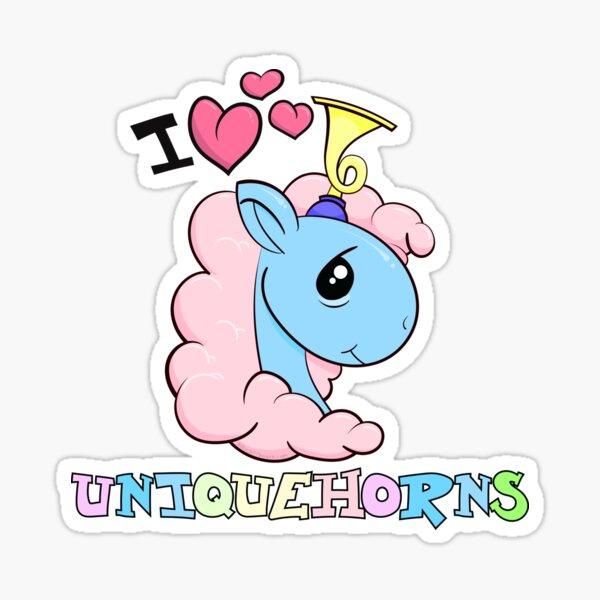 I Love Unicorns with Uniquehorns Sticker