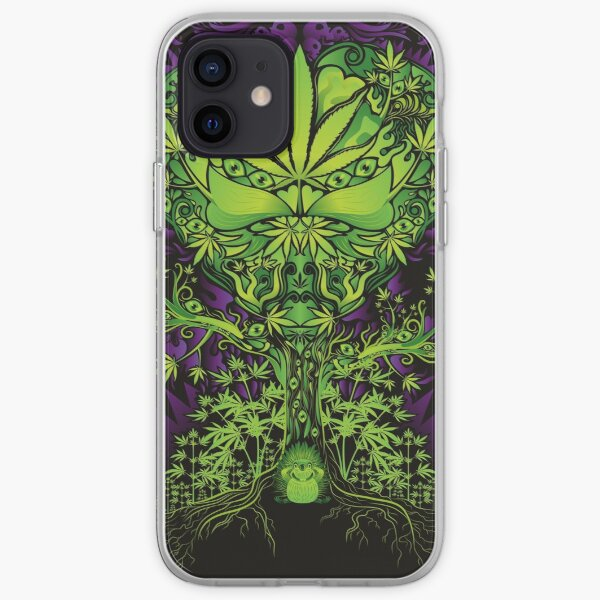 Marijuana Love Tree iPhone Soft Case