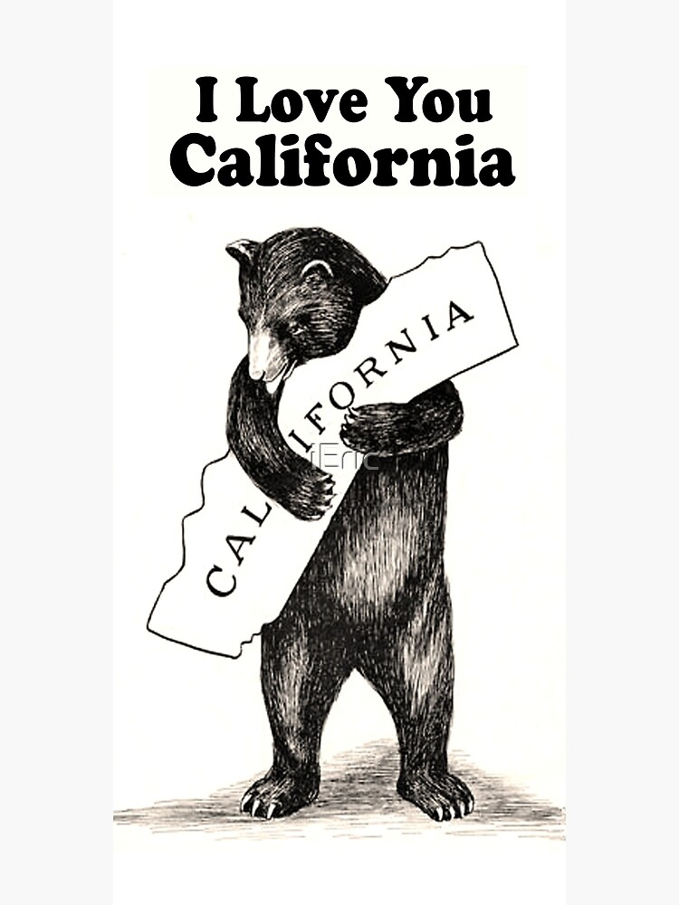 Vintage I Love You California by frittata