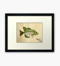 Crappie Framed Print