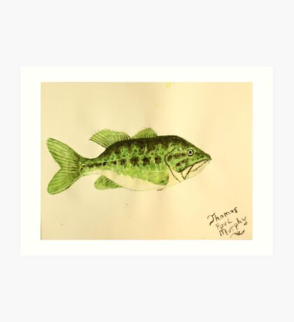 Large Mouth Bass Art Print