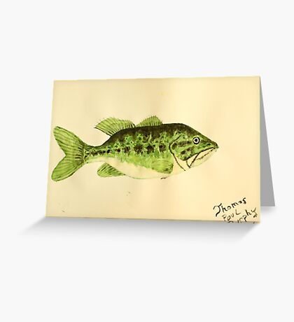 Large Mouth Bass Greeting Card