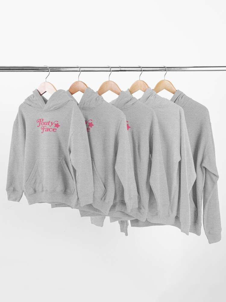 Alternate view of Pouty Face Pink Kids Pullover Hoodie