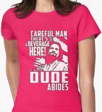 Big Lebowski - Dude Abides Womens Fitted T-Shirt