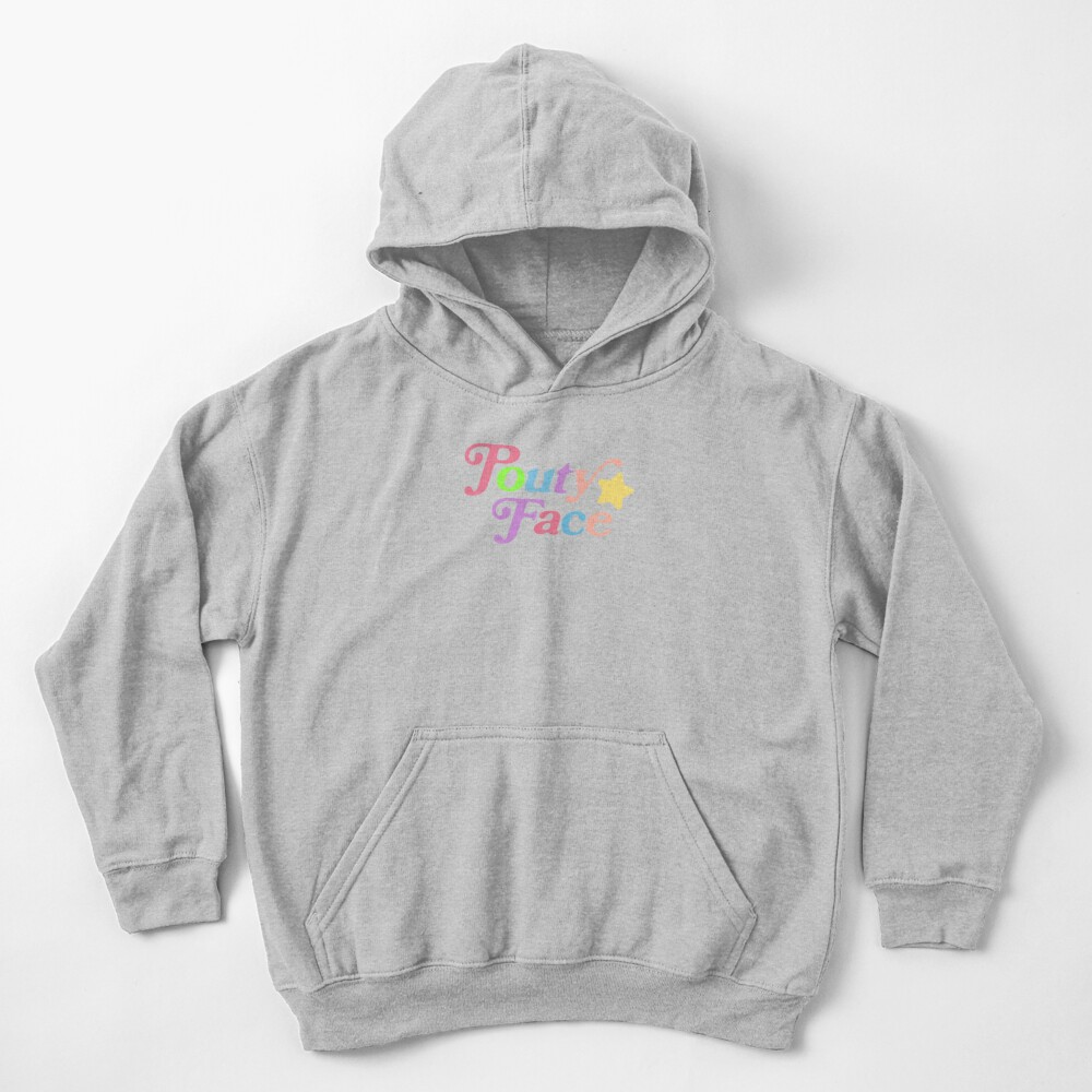 Pouty Face Rainbow Kids Pullover Hoodie