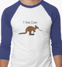 Kangaroos Are T-Rex Deer Men's Baseball ¾ T-Shirt
