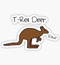 Kangaroos Are T-Rex Deer Sticker