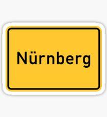 Nuremberg, Germany Road Sign Sticker