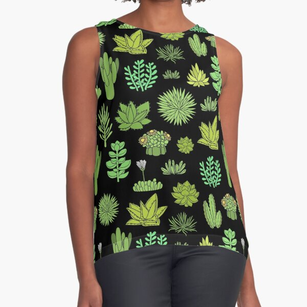 Succulents and cactus. For cacti plant lover Sleeveless Top