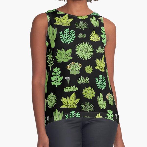 Succulents Sleeveless Top
