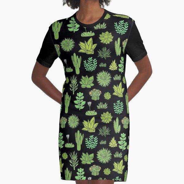 Succulents Graphic T-Shirt Dress