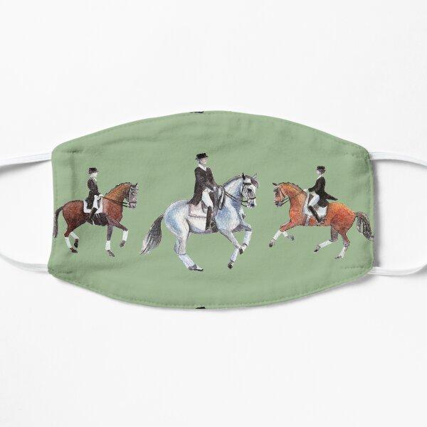 Watercolour Dressage Horses Flat Mask