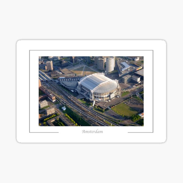 Amsterdam The Netherlands Aerial view of the Amsterdam Arena,  Sticker