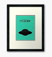Fox Mulder minimalist poster Framed Print