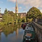 St John Evangelist Church on River Avon Bath by Steve Randall