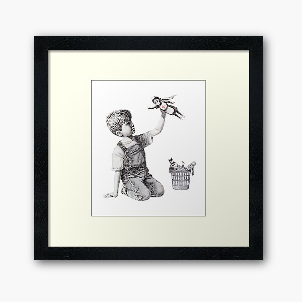 Game Changer - Banksy  Framed Art Print