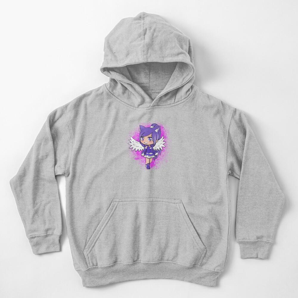 Purple Alpha Gacha Girl - Pink Texture Kids Pullover Hoodie