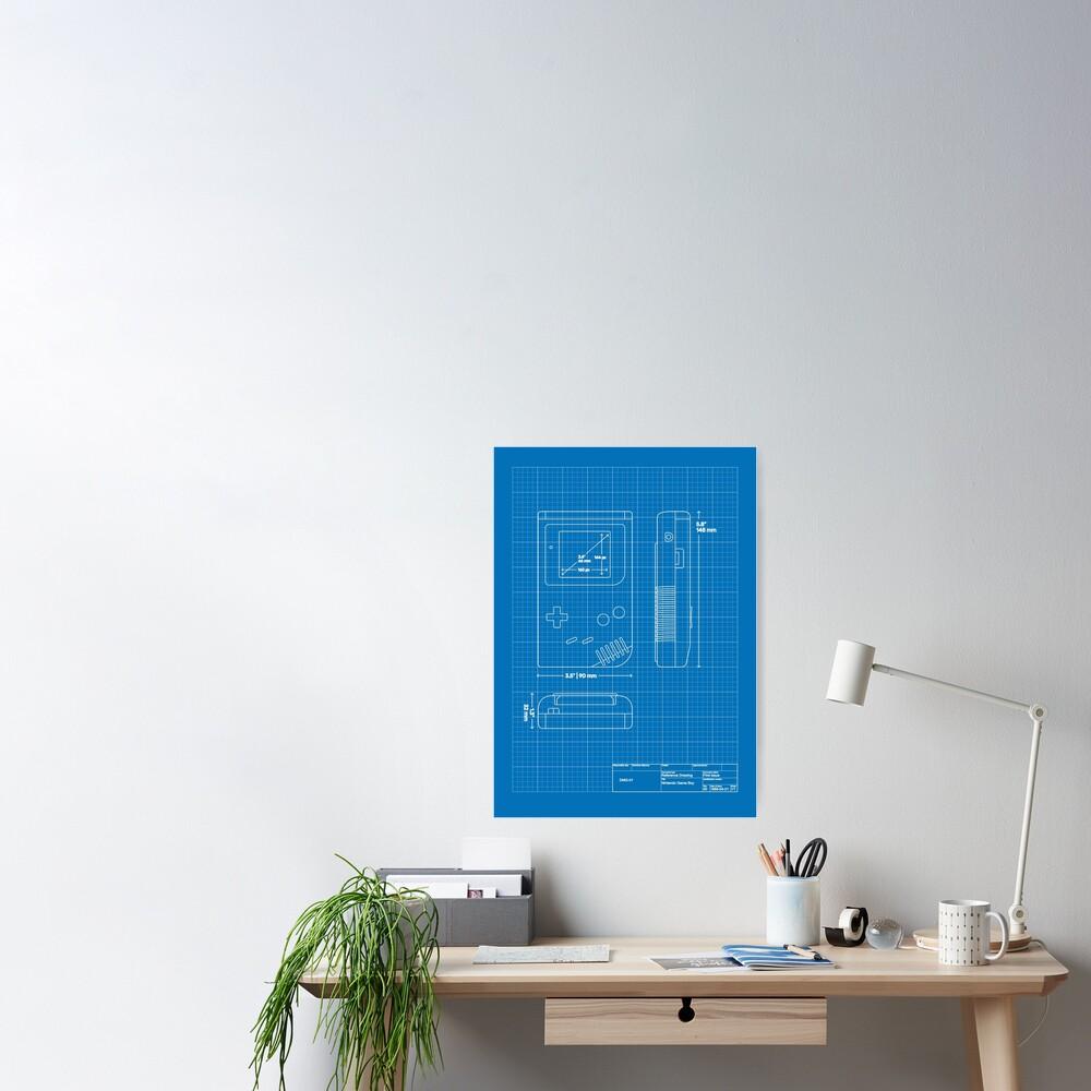 Game Boy blueprint Poster