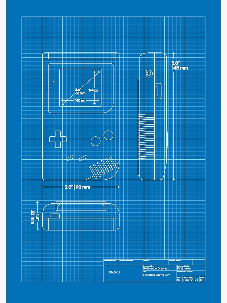 Game Boy blueprint by holgerkrupp