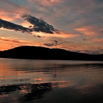 Near the end of the sunset, Monksville Reservoir by amberwayne52