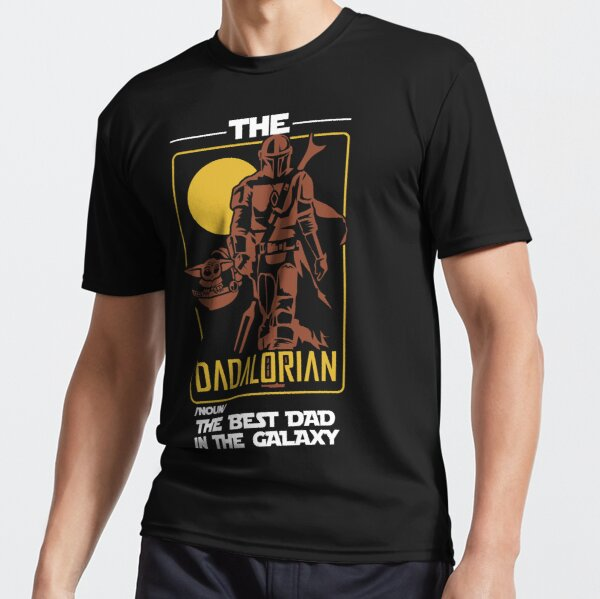 The Dadalorian The Best Dad In The Galaxy Funny Father's Day Gift Active T-Shirt