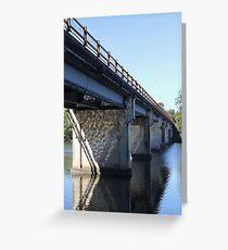 The Old Coomera River Bridge Greeting Card